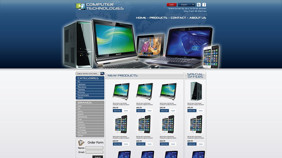 Компьютерный дизайн сайт