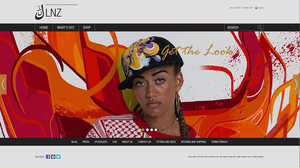 """Онлайн магазин за дрехи """"LNZ"""""""