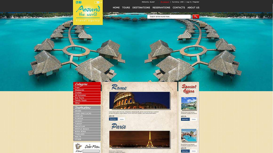 Уеб дизайн на сайт за туристическа агенция
