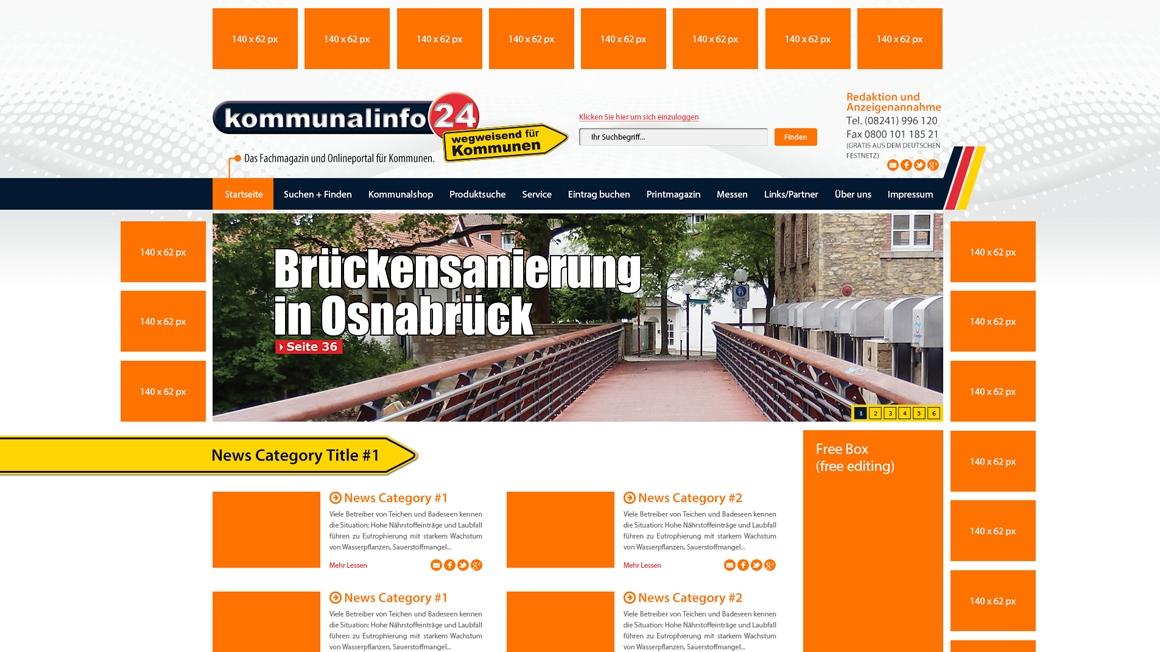 Изработка на уеб портал за обяви в Германия