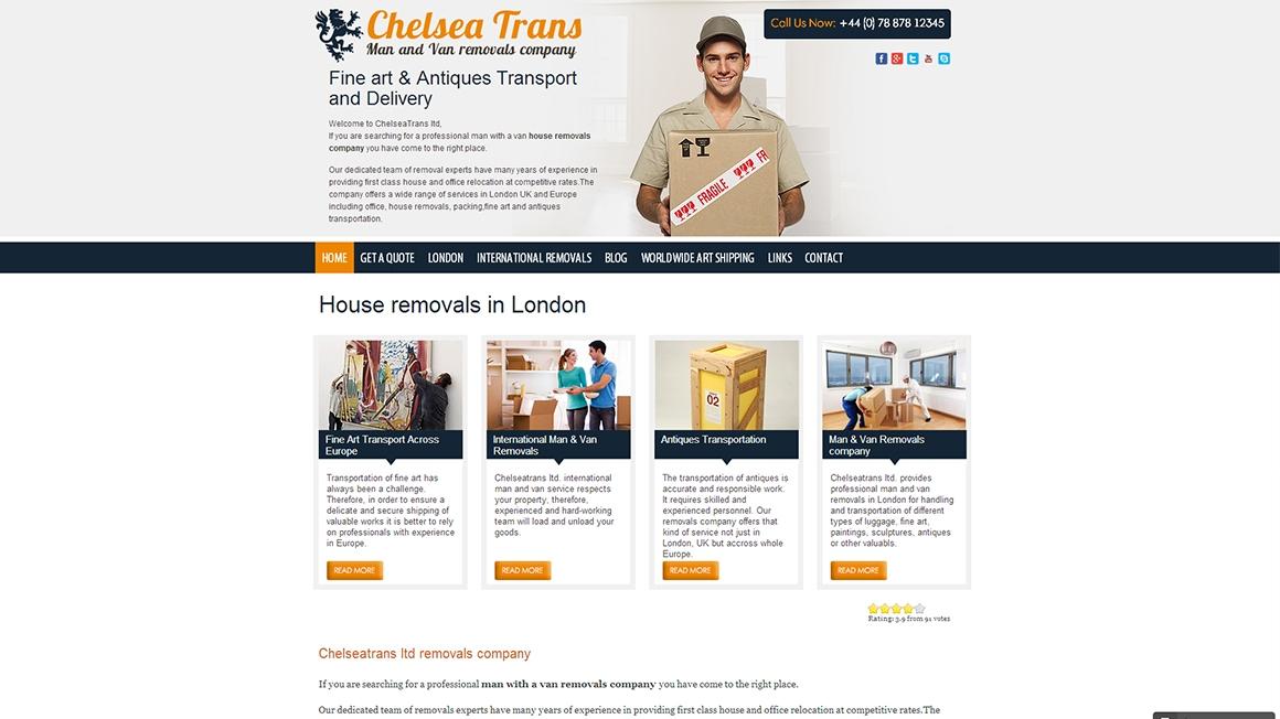 Изработка на уеб сайт за транспортна фирма