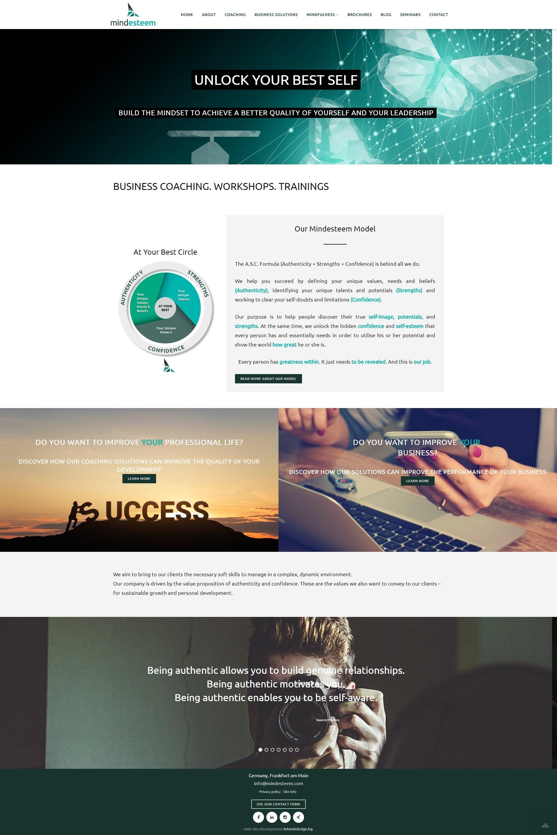 изработка на сайт за консултантски услуги