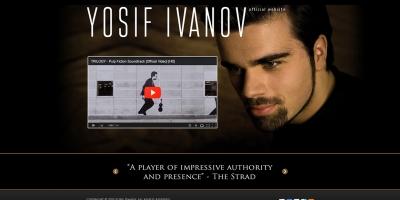 Официален уеб сайт на цигуларя Йосиф Иванов