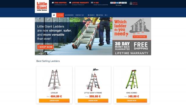 изработка на Онлайн магазин за професионални стълби