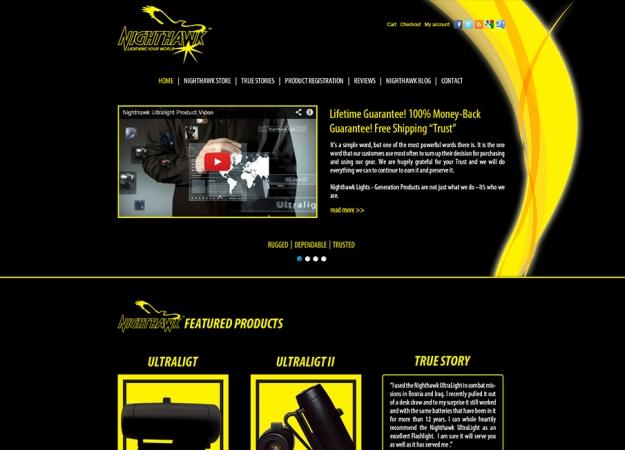 Уеб сайт на американска фирма за прожектори