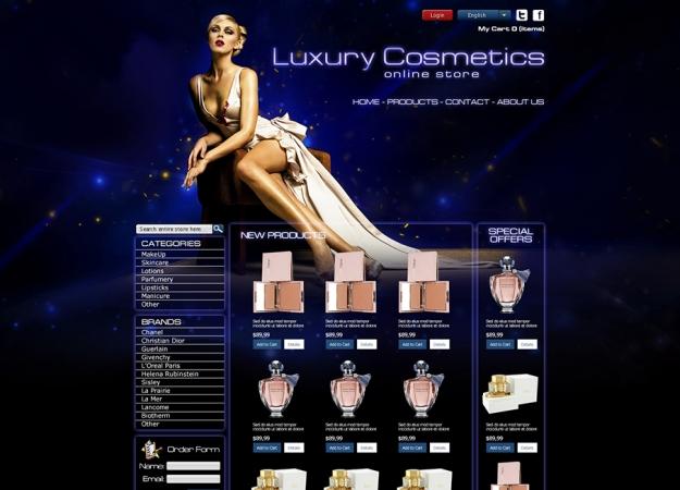 Уеб дизайн на онлайн магазин за козметика