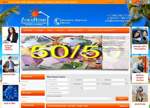 Изработка на уеб сайт за недвижими имоти